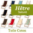 Transat en Hêtre Saturé et Toile Coton