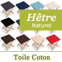 Pliant Pecheur, Bois et Toile Coton