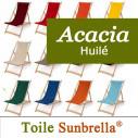 Chilienne Bois, Acacia et Toile Sunbrella