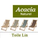 Transat Acacia Naturel et Toile de Lin