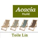 Transat Acacia Huilé et Toile de Lin