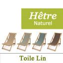 Transat Hêtre Naturel et Toile de Lin