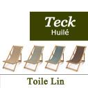 Transat en Teck et Toile de Lin