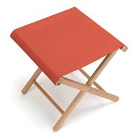 Tabouret pliant jardin rouge orange