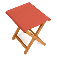 Tabouret pliant rouge orange