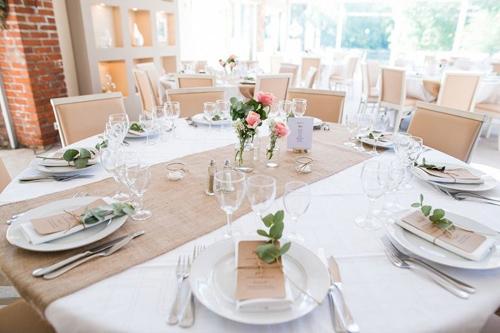 toile de jute pour la deco de table,  fete et mariage