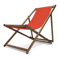 Transat jardin couleur rouge orange