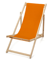 Transat Pliable, Frêne Tuscany orange